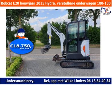 Bobcat E20 bouwjaar 2015 Hydr. verstelbare onderwagen 100-130