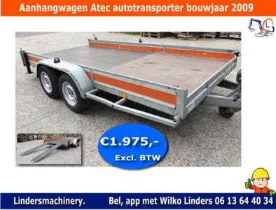 Atec auto transporter machine transporter aanhanger