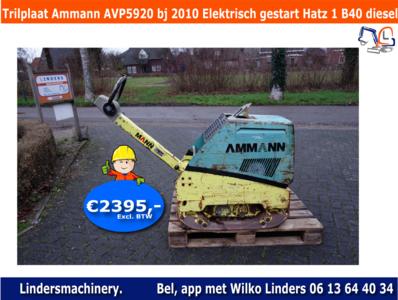 Trilplaat Ammann AVP5920 bouwjaar 2010