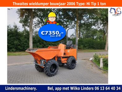 Thwaites wieldumper bouwjaar 2006 type Hi Tip 1 ton hoogkieper