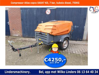 Compressor Atlas Copco XAS 47 KD