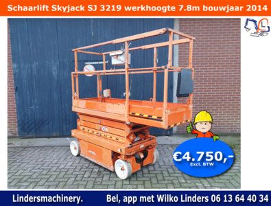 Schaarlift Skyjack SJ 3219 bouwjaar 2014