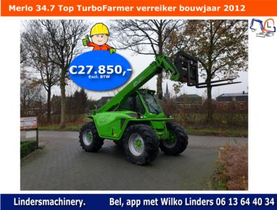 Verreiker Merlo 34.7 Top bouwjaar 2012 Verkocht Sold