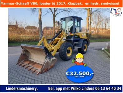 Yanmar-Schaeff V80 loader bouwjaar 2017 Klapbak  en hydr. snelwissel