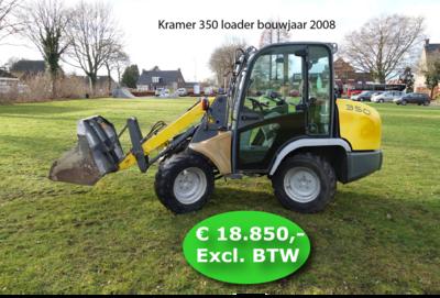 Kramer 350 loader bouwjaar 2008 (met video)