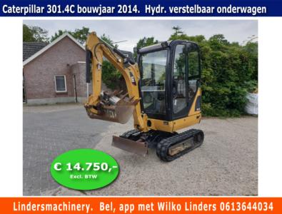 Minigraver Caterpillar 301.4C bouwjaar 2014